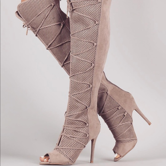 f414187469c Shoes - Zip up the back over the knee boot